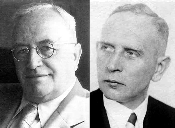 A new generation: Dr. Wilhelm Wenzel and Johannes Gröseling