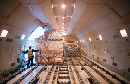 Utilise our network of air-freight offices