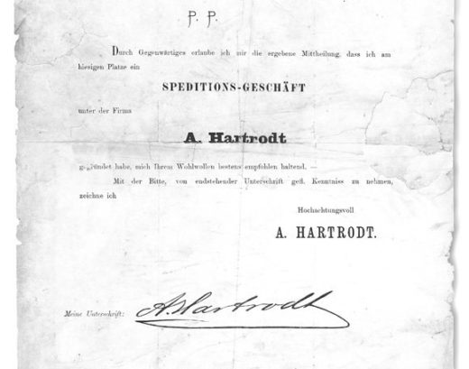 1887 Certificate of foundation