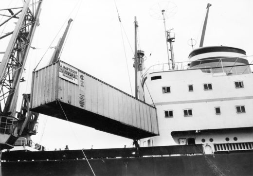 Historic container shipment