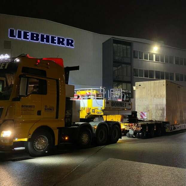 Project shipment Liebherr