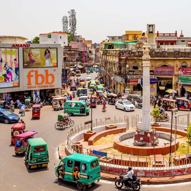 Streets of Old Delhi in India